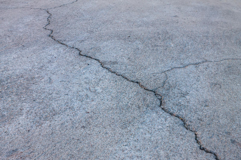 Crack Line In The Street