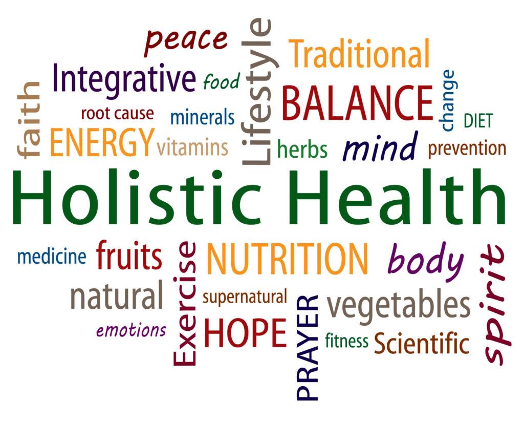 Word map of holistic health