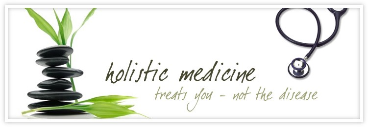 picture of text that says holistic medicine treat you-not the disease